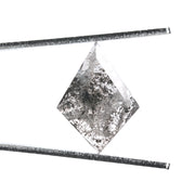 3.23ct Black Speckled Kite Rose Cut Diamond