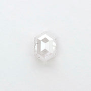 0.84ct Icy White Hexagon Rose Cut Diamond