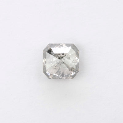 1.44ct Salt & Pepper Asscher Shaped Rose Cut Diamond