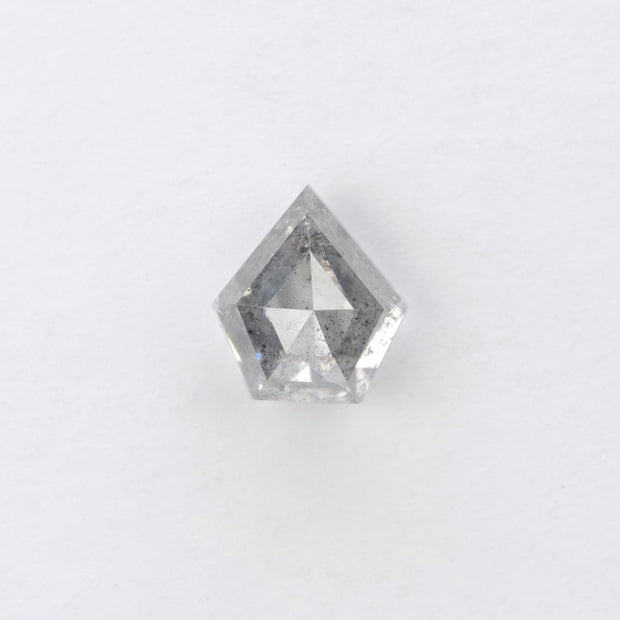 1.51ct Salt & Pepper Shield Shaped Rose Cut Diamond