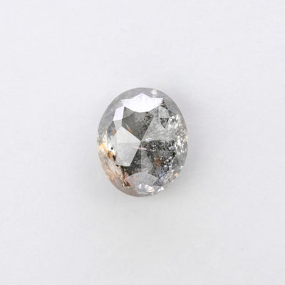 2.16ct Salt & Pepper Oval Diamond