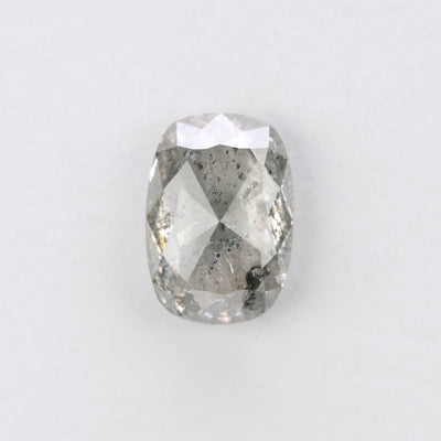 2.84ct Salt & Pepper Oval Rose Cut Diamond