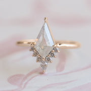 1.03ct Kite Diamond Engagement Ring, Ava Setting, 14K Rose Gold