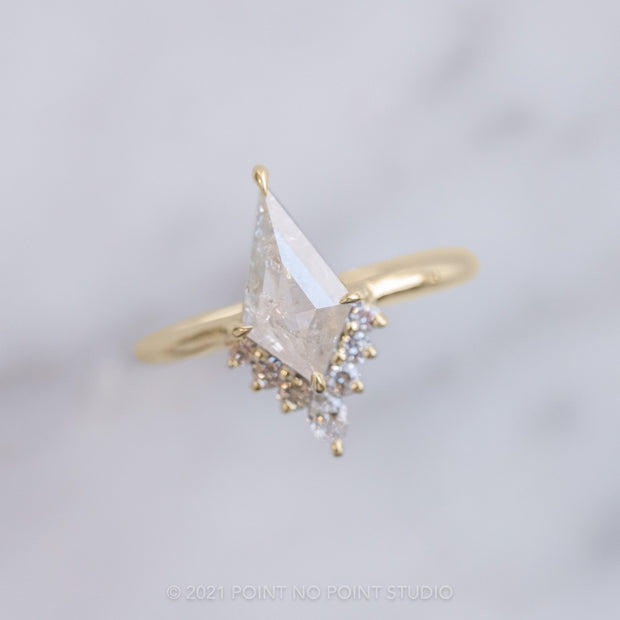1.03ct Kite Diamond Engagement Ring, Ava Setting, 14K Yellow Gold