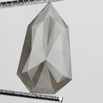 5.24 ct Grey Geometric Rose Cut Diamond