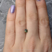 .89 ct Blue/Green/Yellow Hexagon Sapphire