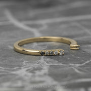 Diamond Wedding Cuff, Ombre Harper Setting, 14K Yellow Gold