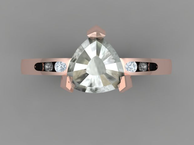 Custom Jules engagement ring