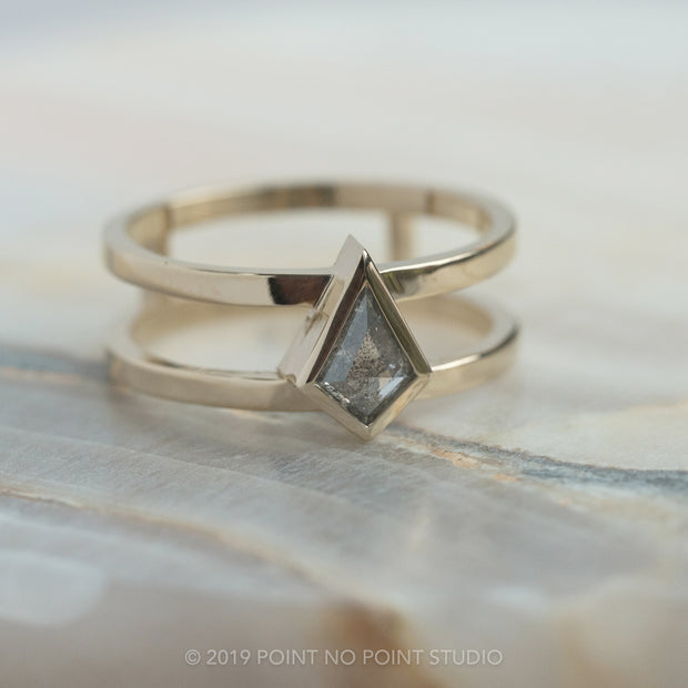 Custom double band men's ring