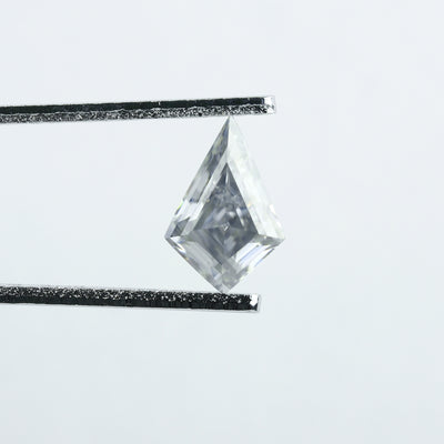 1 Carat Grey Step Cut Kite Moissanite