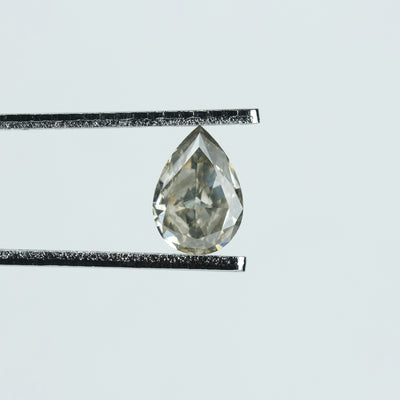 0.91 Carat Salt & Pepper Brilliant Cut Pear Diamond