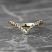 Diamond V Wedding Band