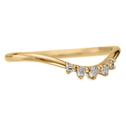 Lark Diamond Contour Wedding Ring, 14k Yellow Gold