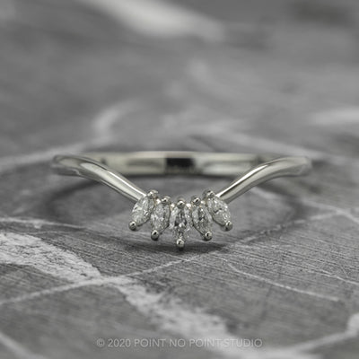 Marquise Diamond Contour Wedding Band