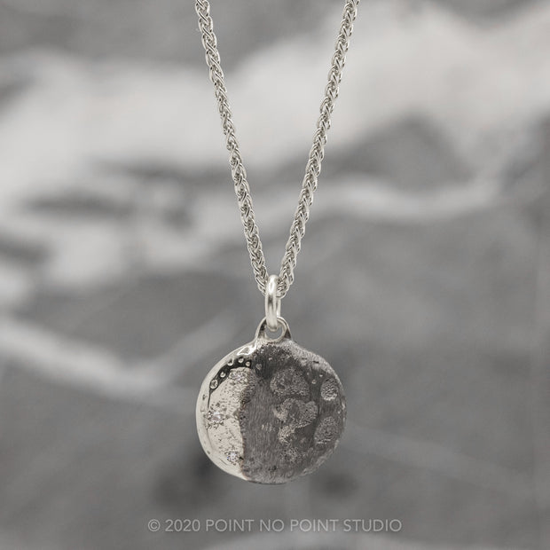 Moon Phase with Diamonds White Gold