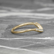 Diamond Contour Wedding Band