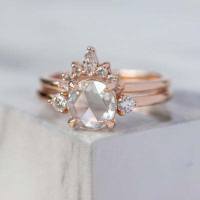 .85 Carat Clear Round Diamond Engagement Ring, Zoe Setting, , 14K Rose Gold