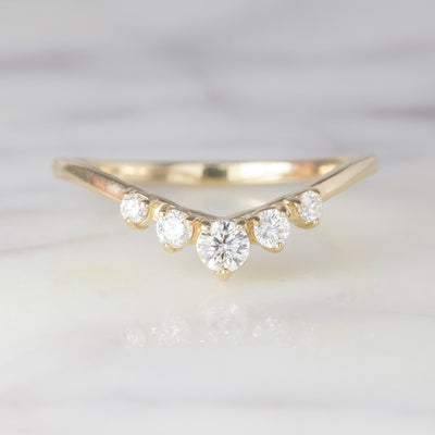 Simple Diamond Wedding Band