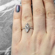 Geometric Diamond Engagement Ring