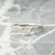 Triple Diamond Wedding Band