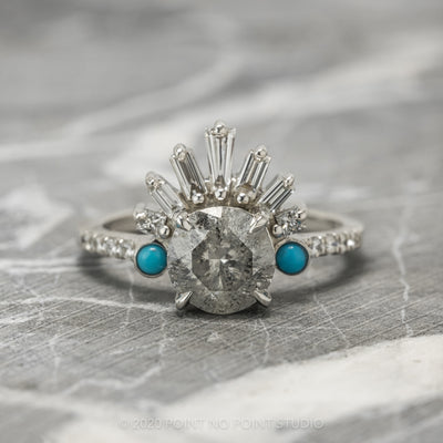 Custom Wren engagement ring