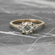 Custom Salt & Pepper Diamond Engagement Ring