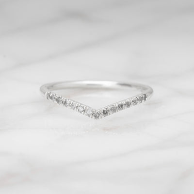 Grey Diamond Wedding Band