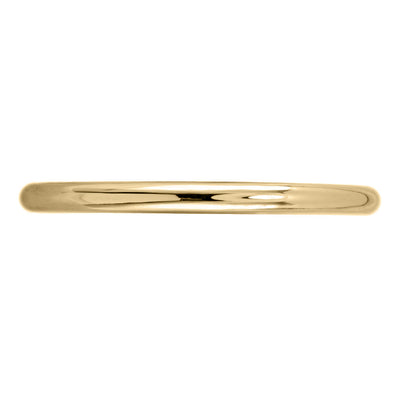 Classic Round Polished Wedding Band, 14k Yellow Gold