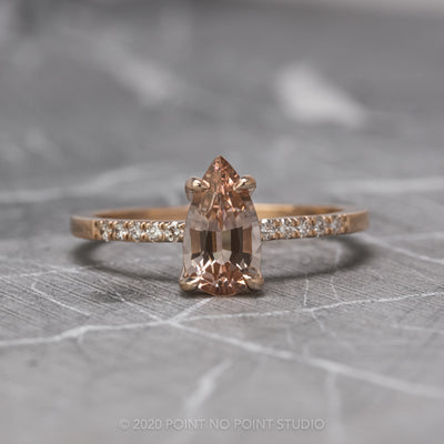 Custom Morganite engagement ring