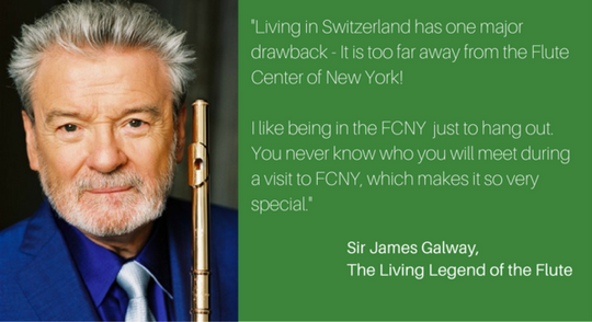 Sir James Galway, The Living Legend of the Flute