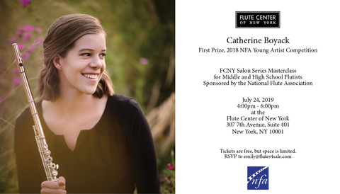 Catherine Boyack Masterclass – Flute Center of New York