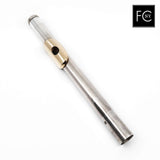 Altus Headjoint #DA1 - Britannia silver seamed tube, 14K gold lip plate and riser