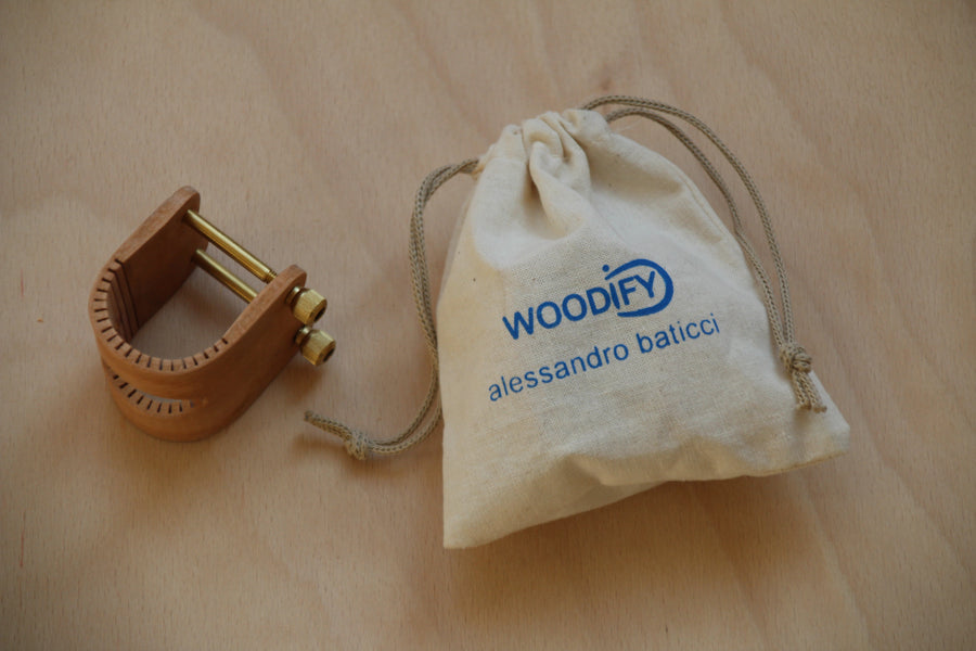 Woodify Ring For Bass Flute - Beech Wood