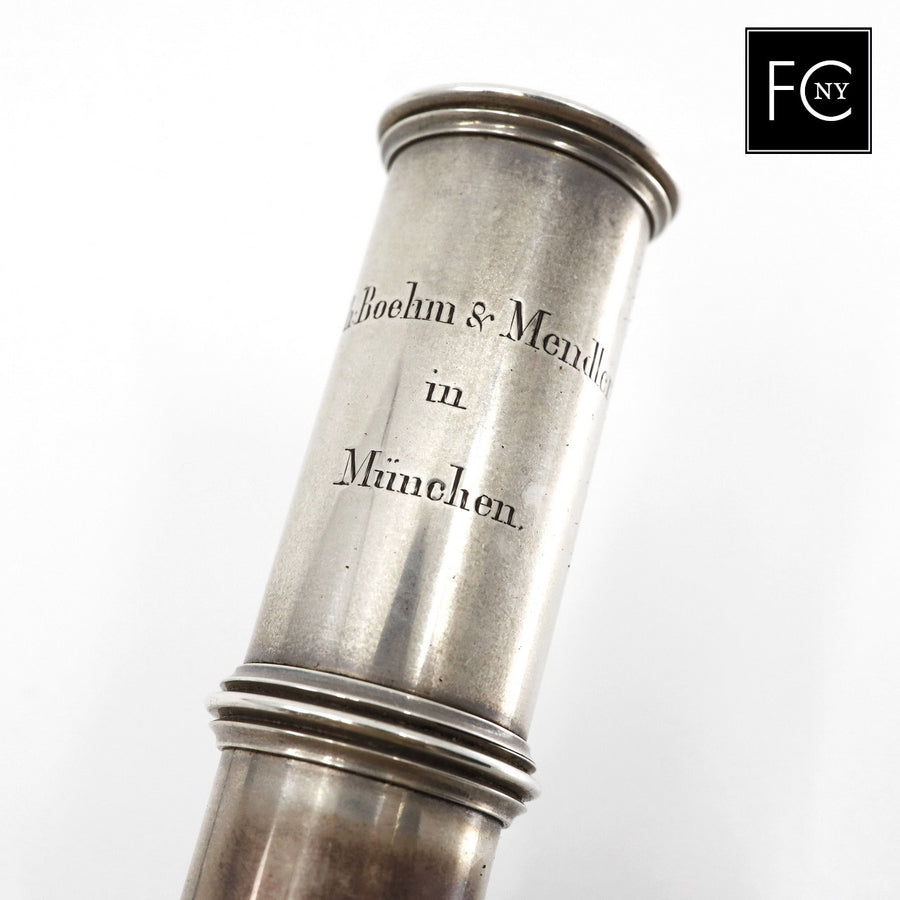 Boehm and Mendler Silver Flute #FCNY3
