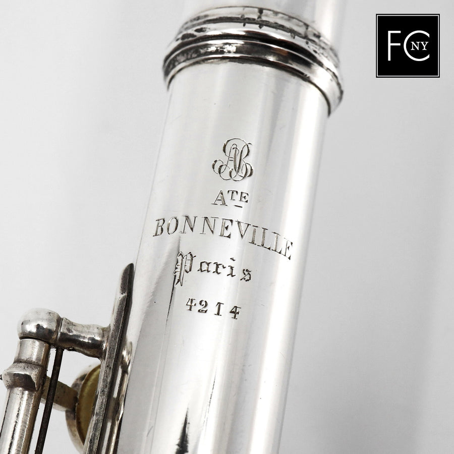 Bonneville #4214 - all silver, Miguel Arista Lip plate, C footjoint