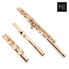 "Brannen Brothers ""Brögger Flute"" in 14K Gold with Gold Keys (New)"