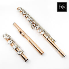 Burkart Elite Flute in 10K Gold with Silver Keys (New)
