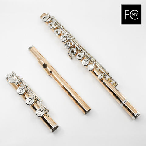 "Lillian Burkart ""Professional Model"" Flute in 9K Gold Over Sterling Silver (New)"