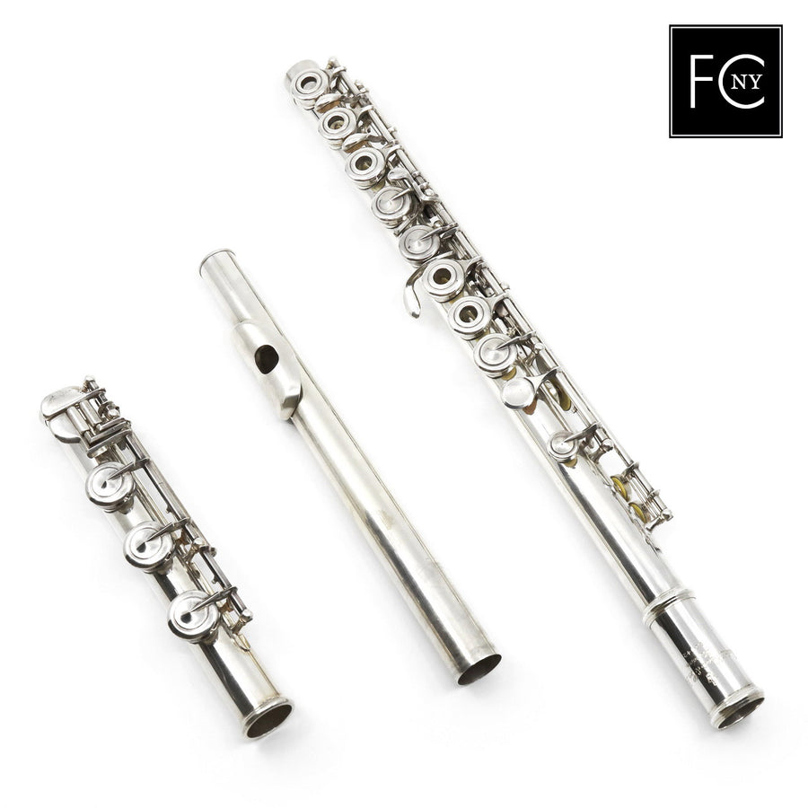 Carte #51042 - all silver, inline G, detachable split E mechanism, B footjoint