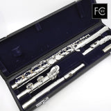 Di Zhao Alto Flute Model DZA-100S - Sterling Silver Straight Headjoint, Silver-Plated Curved Headjoint and Body (New)