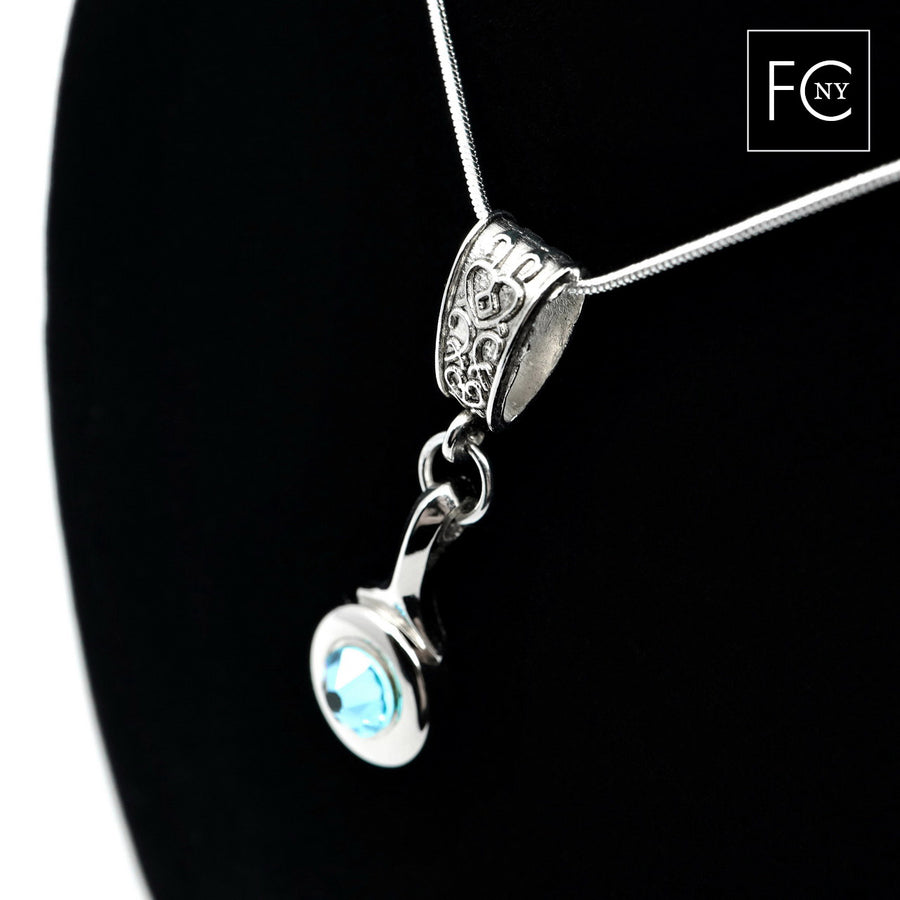 Trill Key Necklace with Swarovski Crystal by Flute Finery