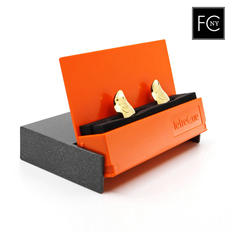 33mm Yellow Gold-Plated Solid Silver Lefreque Sound Bridge