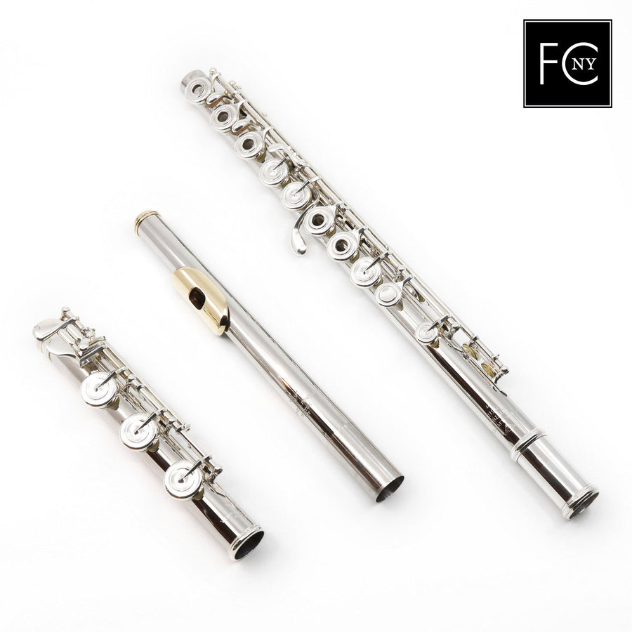 Verne Q. Powell Handmade Custom Flute in Platinum with Silver Mechanism (New)