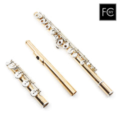 Verne Q. Powell Custom 14K Rose Gold or White Gold Flute with Silver Mechanism (New)