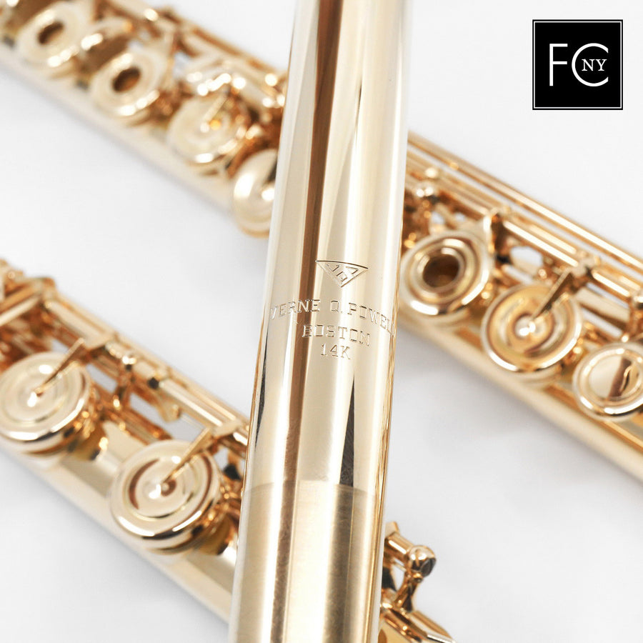 Verne Q. Powell Handmade Custom Flute in 14K Gold with Gold Mechanism (New)
