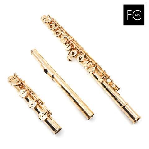 Powell Custom 14K Gold #16170 - offset G, split E Mechanism, C# trill, D# roller