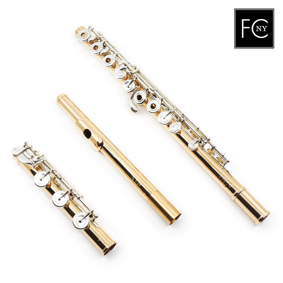 Verne Q. Powell Handmade Custom Flute in 19.5K Gold with Silver Mechanism (New)