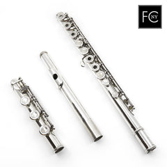 "Powell Commercial Flute #3563 - all silver, inline G, (.018"") tubing, B footjoint"