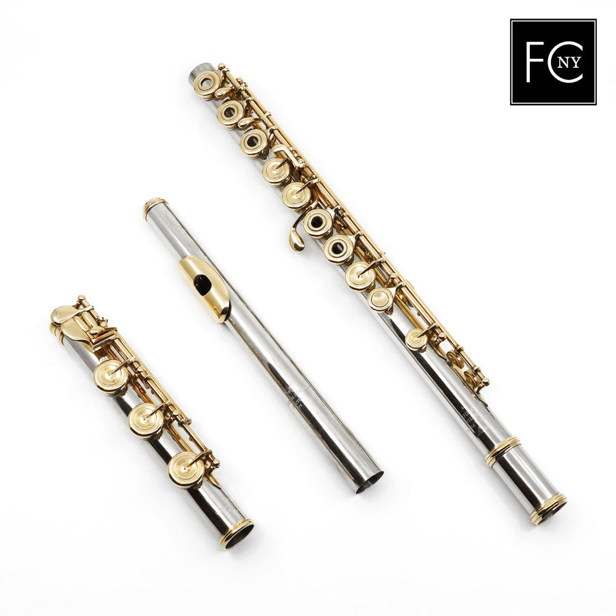 Verne Q. Powell Handmade Custom Flute in Platinum with Gold Mechanism (New)