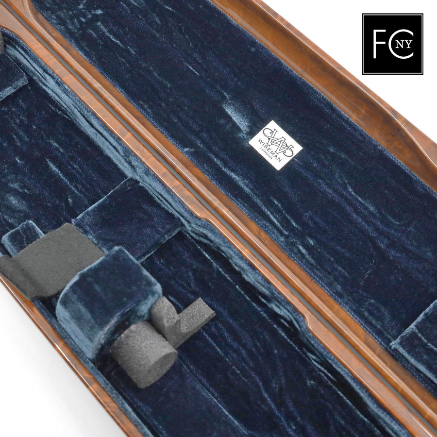 French Flute Case by Wiseman - Burr Wood Look